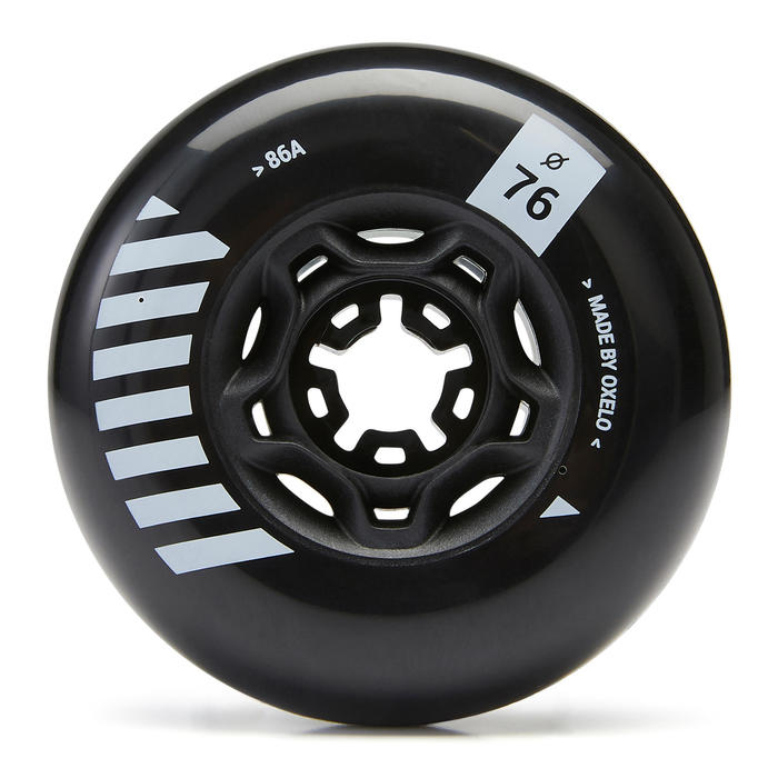 4 roues roller freeride MF 76mm 86A noires