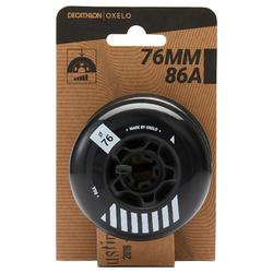 4 roues roller freeride MF 76mm 86A noires