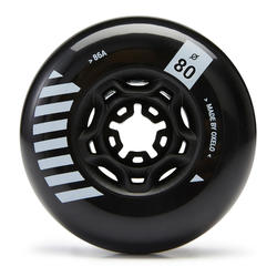 4 wielen freeride skates 80 mm 86A zwart