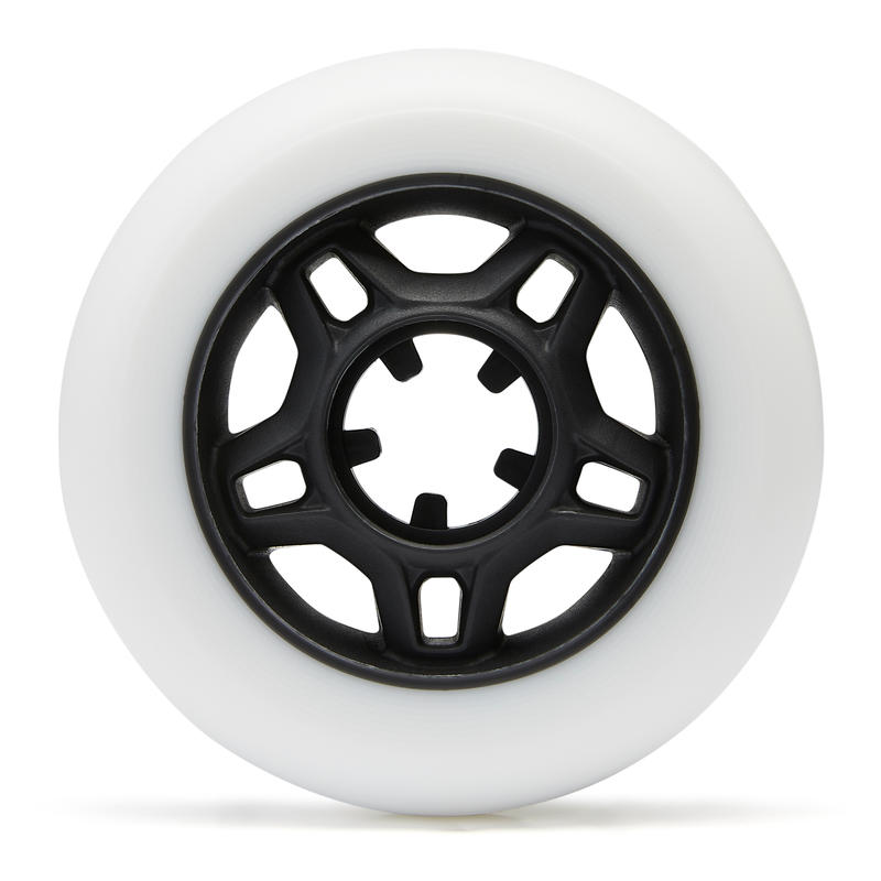 4 Ruedas Patines Fitness Fit 76mm 80A Adulto Blanco