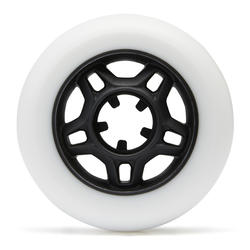 76mm 80A Adult Fitness Inline Skating Wheels 4-Pack Fit - White