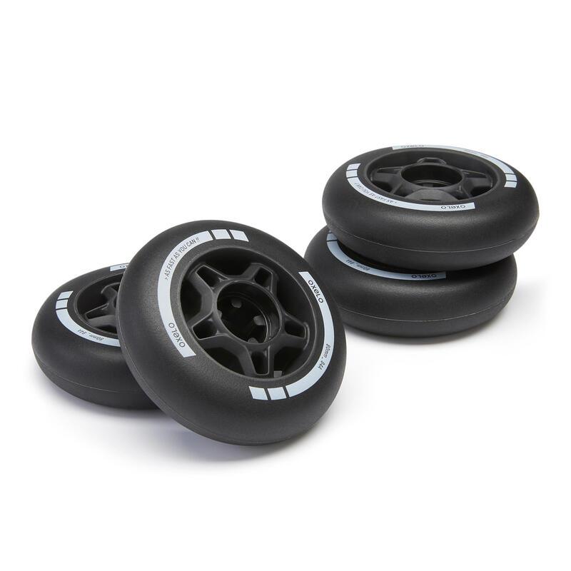 4 ruedas roller fitness FIT 80 mm 84A negro