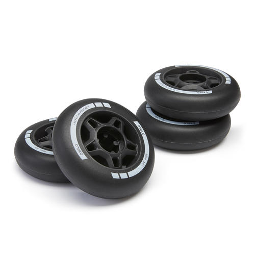 4 roues roller fitness FIT 80mm 84A noires
