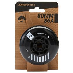4 roues roller freeride 80mm 86A noires