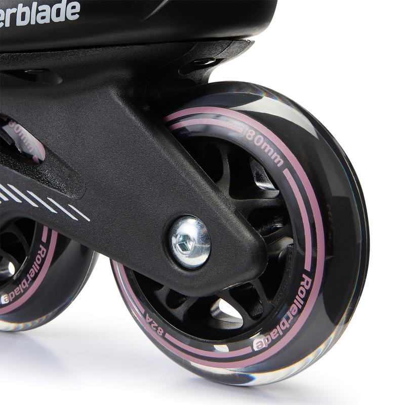 Women's Fitness Inline Skates Bravo Rollerblade - Black/Mauve