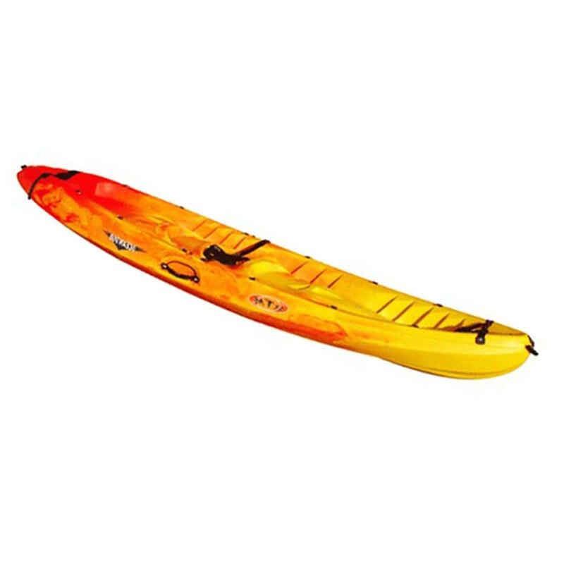 Kayak Canoa Rígida Ocean Duo Rotomod Amarilla/Roja 2 Adultos + 1 Niño.Piragüismo