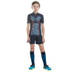 Épaulière de rugby R100 enfant bleu gris