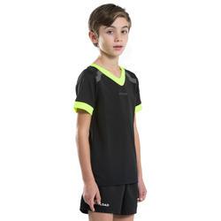 Maillot de rugby R100 enfant noir jaune