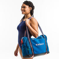 Aquafitness mesh bag - blue/orange