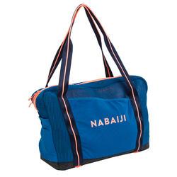 Mesh tas voor aquagym en aquafitness blauw/oranje