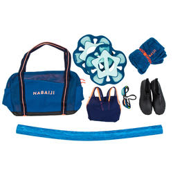 Sac Aquagym et Aquafitness bleu orange