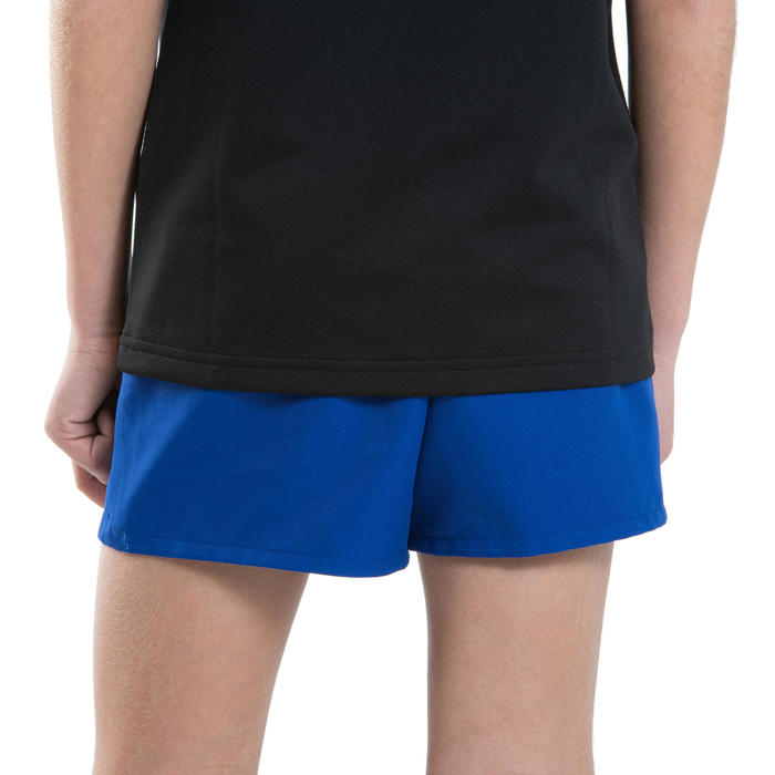 Rugbyshort voor kinderen Club R100 zonder zakken koningsblauw