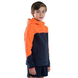 Sweat-shirt Rugby R500 Junior orange/ bleu marine