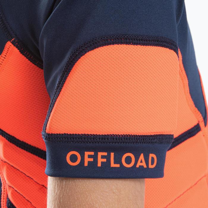 Epaulière de rugby R500 enfant orange