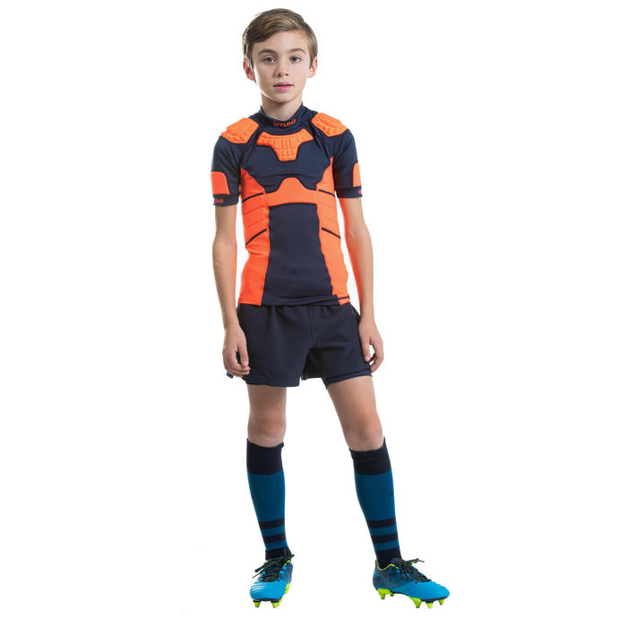 Epaulière de rugby R500 enfant orange