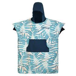 成人款毛巾衣SURF 500-印花樹葉款