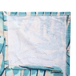 成人款衝浪毛巾衣500-印花樹葉款