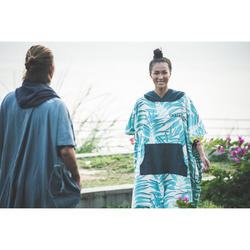 Adult Surf Poncho 500 Print - Leaf