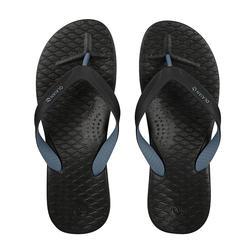 男款夾腳拖鞋500-灰色/黑色