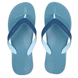 男款夾腳拖鞋500-淺碧藍色