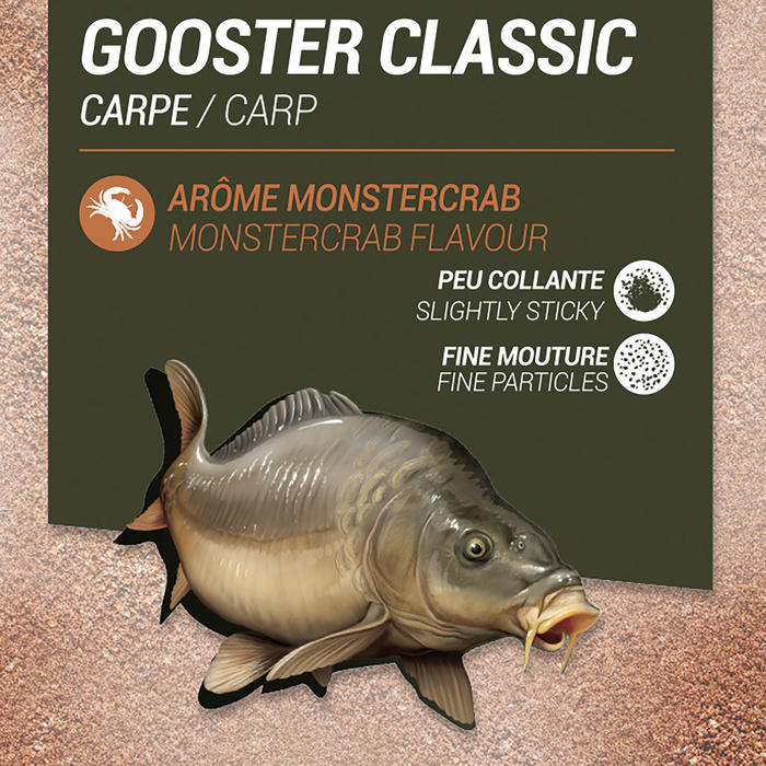 AMORCE GOOSTER CLASSIC CARPE ORANGE MONSTER CRAB 1kg