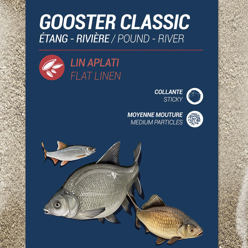 AMORCE GOOSTER CLASSIC TOUS POISSONS 4X4 9,5kg