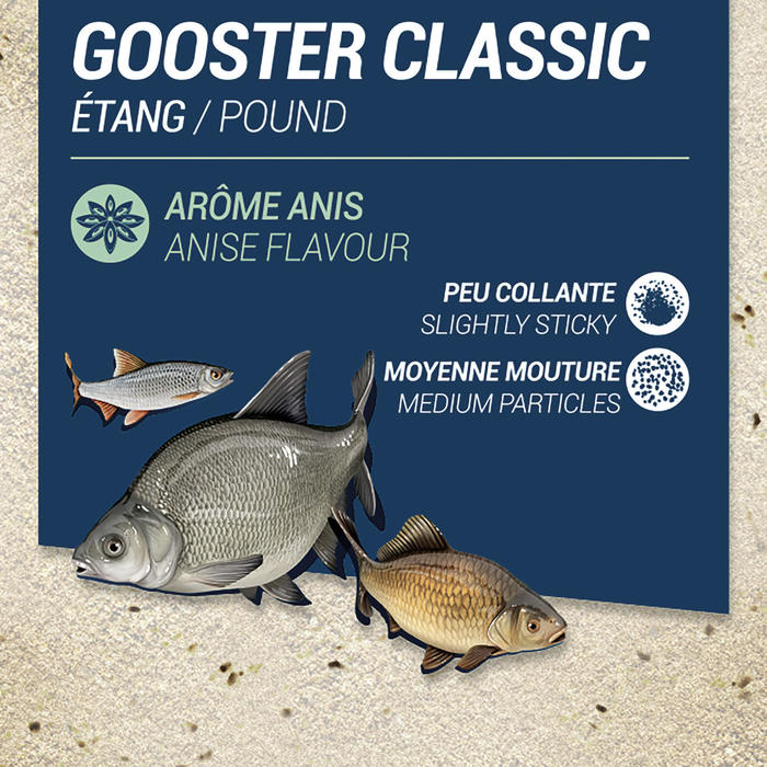 AMORCE GOOSTER CLASSIC TOUS POISSONS ANIS 1kg