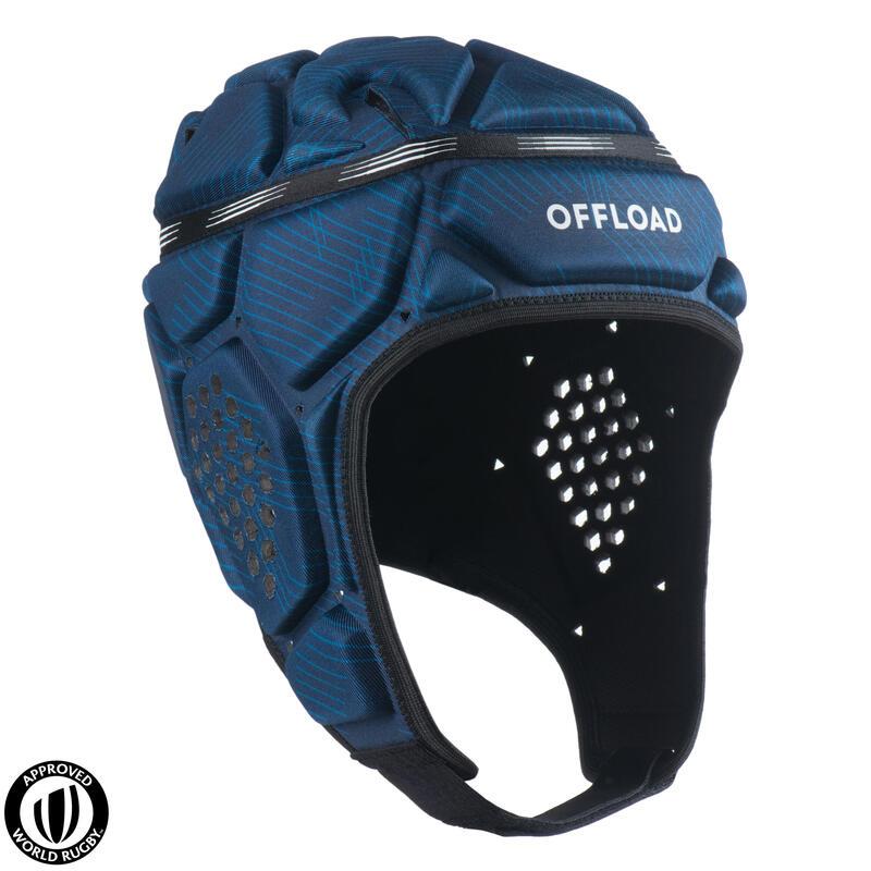 Scrumcap voor rugby heren R500 blauw
