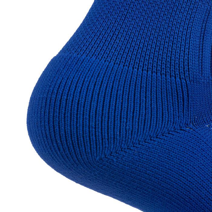 Hoge rugbysokken voor kinderen R500 blauw/geel
