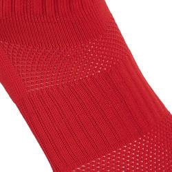 Hoge rugbysokken voor kinderen R500 rood/wit