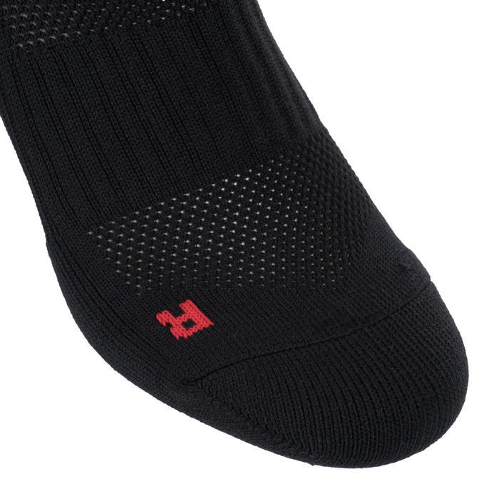 Chaussettes hautes rugby homme R500 rouge noire