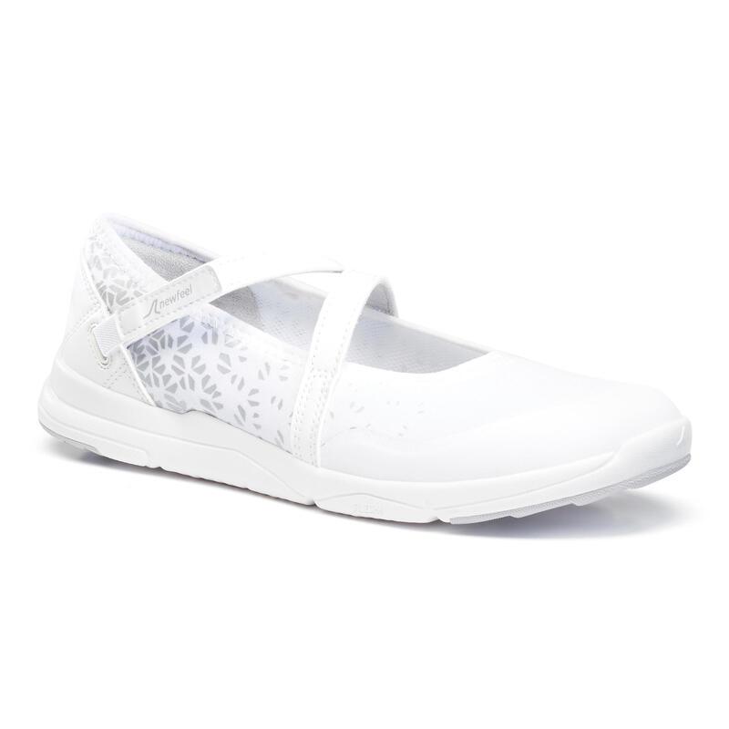 Ballerina's voor wandelen in de stad voor dames PW 160 Br'easy wit