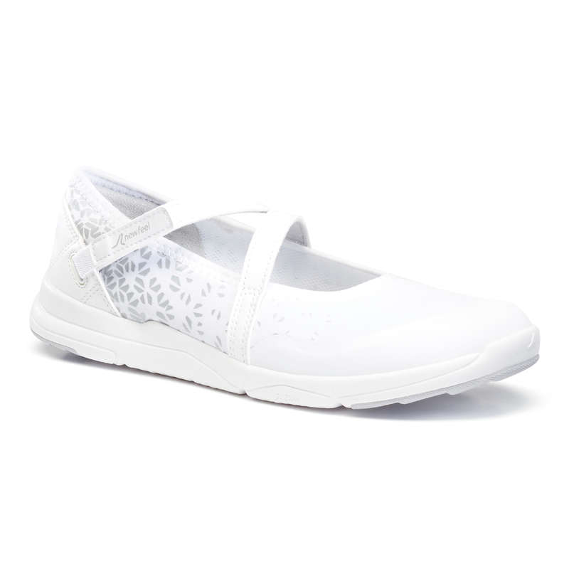WOMEN SPORT WALKING SHOES Hiking - PW 160 Br'easy - white NEWFEEL - Outdoor Shoes