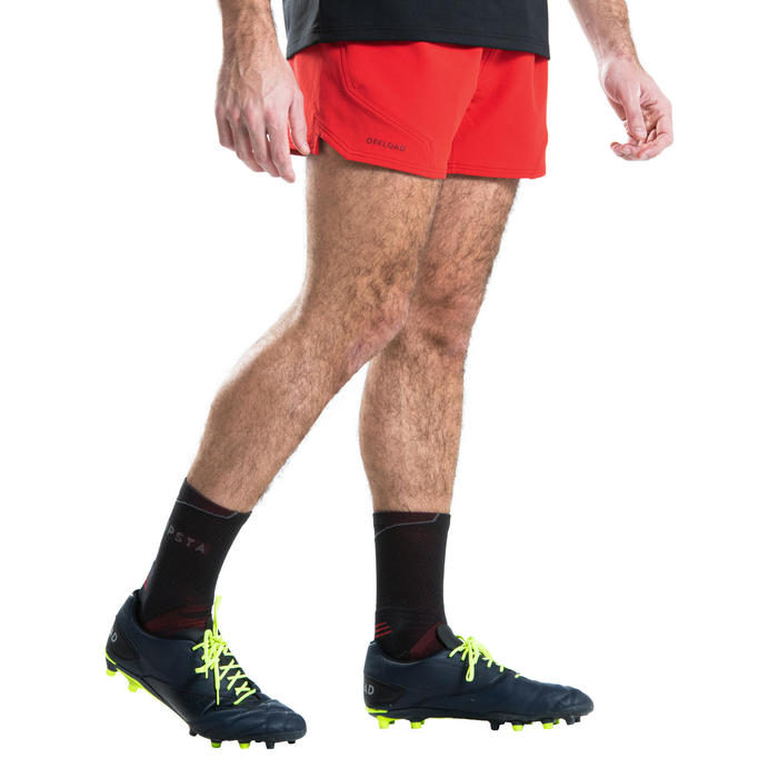 Short de rugby R500 homme rouge