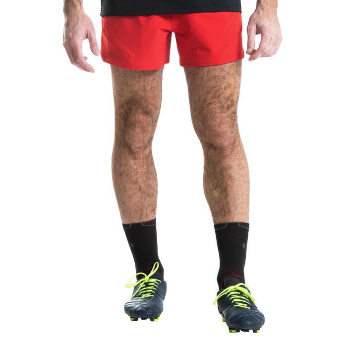 Rugbyshorts R500 Herren rot