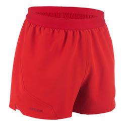 Rugbyshort voor heren R500 rood