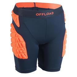 Beschermende ondershort voor rugby kinderen R500 oranje