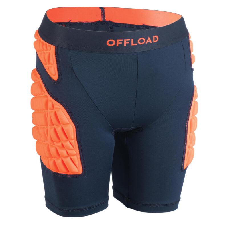Kids' Protective Rugby Undershorts R500 - Orange