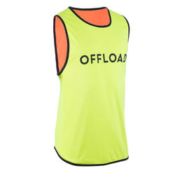 CHASUBLE DE RUGBY R500 Réversible Jaune Orange