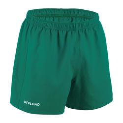 Rugbyshort voor volwassenen Club R100 groen