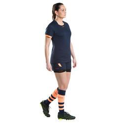 Sous short rugby R500 femme noir