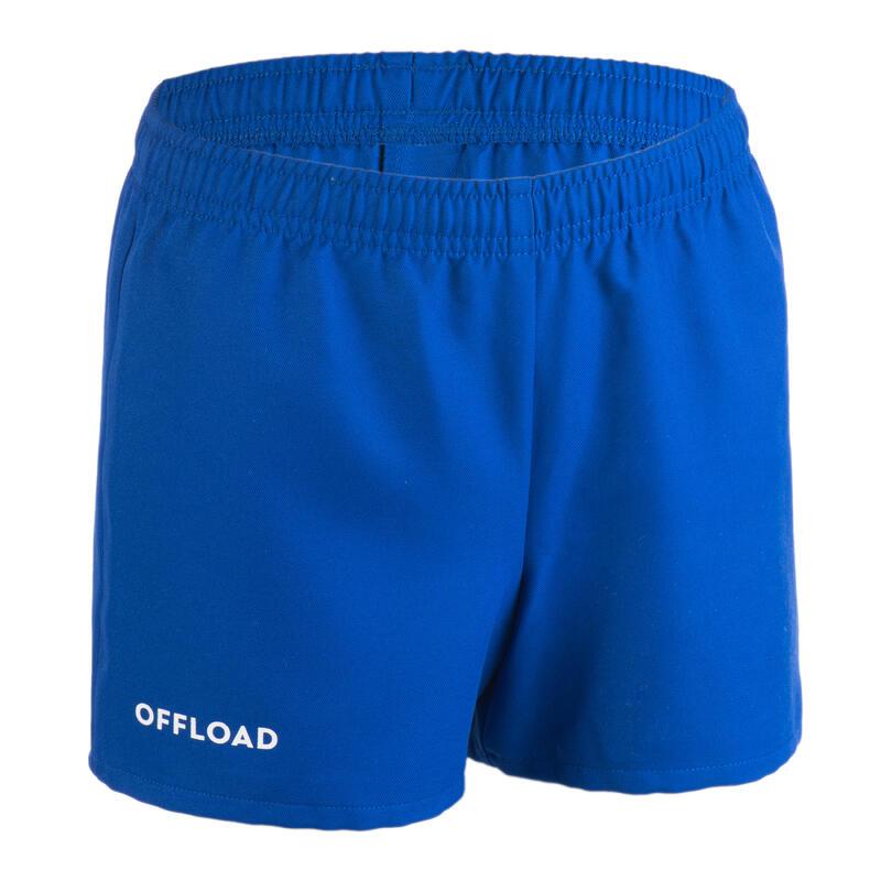 Pantalón Corto De Rugby Club Offload R100 Sin Bolsillo Júnior Azul Royal