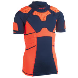 Schulterschutz Rugby R500 Kinder orange