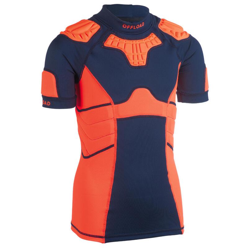 Kids' Rugby Shoulder Pad R500 - Orange
