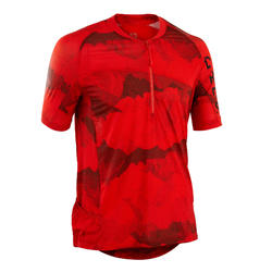 MAILLOT MANCHES COURTES VTT ST 500 ROUGE HOMME