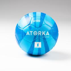 Ballon de handball H100 enfant T1 bleu