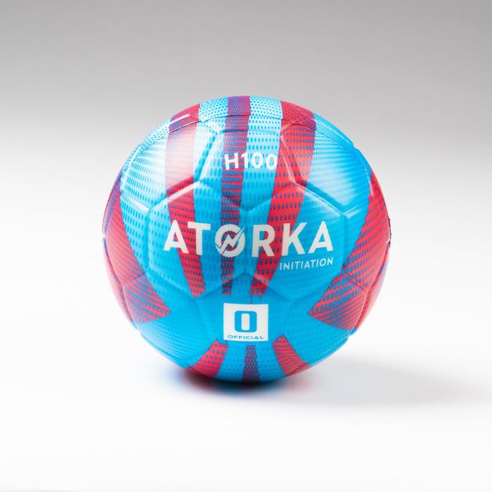 Ballon de handball enfant H100 initiation bleu/rouge