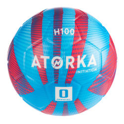 Ballon de handball enfant H100 initiation bleu/rouge