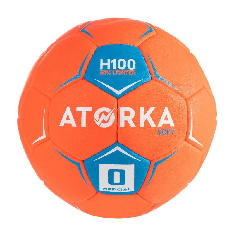 Balón Handball Atorka H100 Soft Niños T0  Naranja
