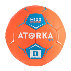 Ballon de handball enfant H100 soft T0 orange